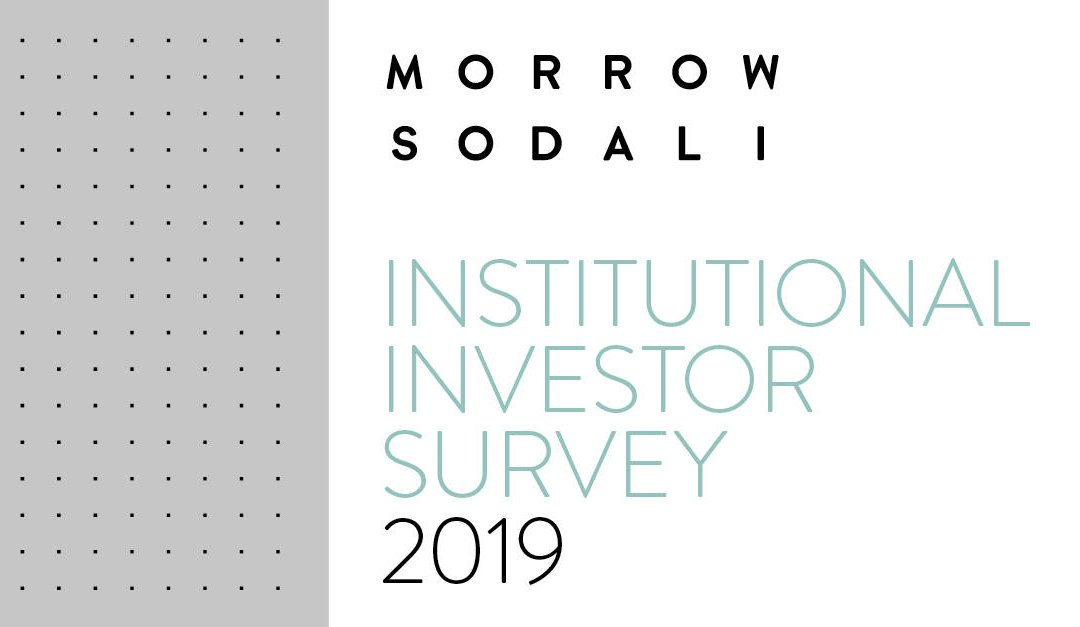 Morrow Sodali Institutional Investor Survey 2019