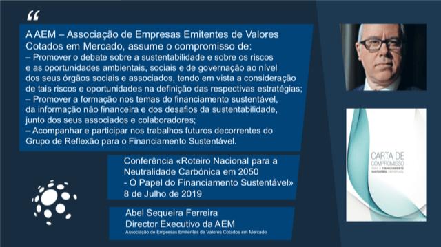 AEM ASSINA CARTA DE COMPROMISSO PARA O FINANCIAMENTO SUSTENTÁVEL EM PORTUGAL