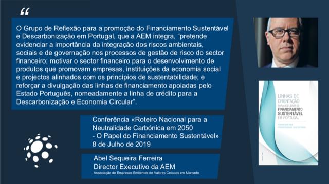 LINHAS DE ORIENTAÇÃO PARA O FINANCIAMENTO SUSTENTÁVEL EM PORTUGAL