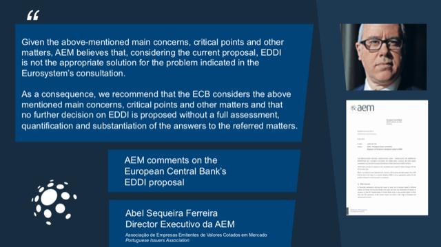 Resposta da AEM à consulta pública do BCE sobre a plataforma EDDI